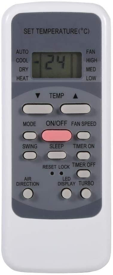 Tosuny Air Conditioner Remote Control Replacement for Midea R51M/E, Fashion Universal A/C Remote Controller with Clock and Timer ON/Off Function for Midea Toshiba VESTEL etc