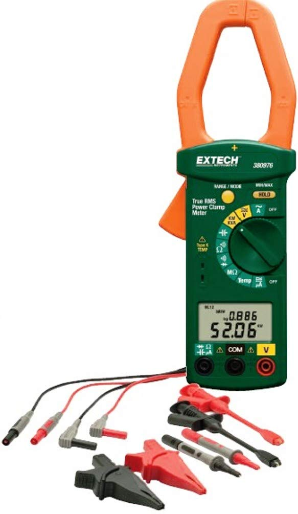 Extech 380976-K 1 and 3 Phase 1000A TRMS Power Clamp Meter