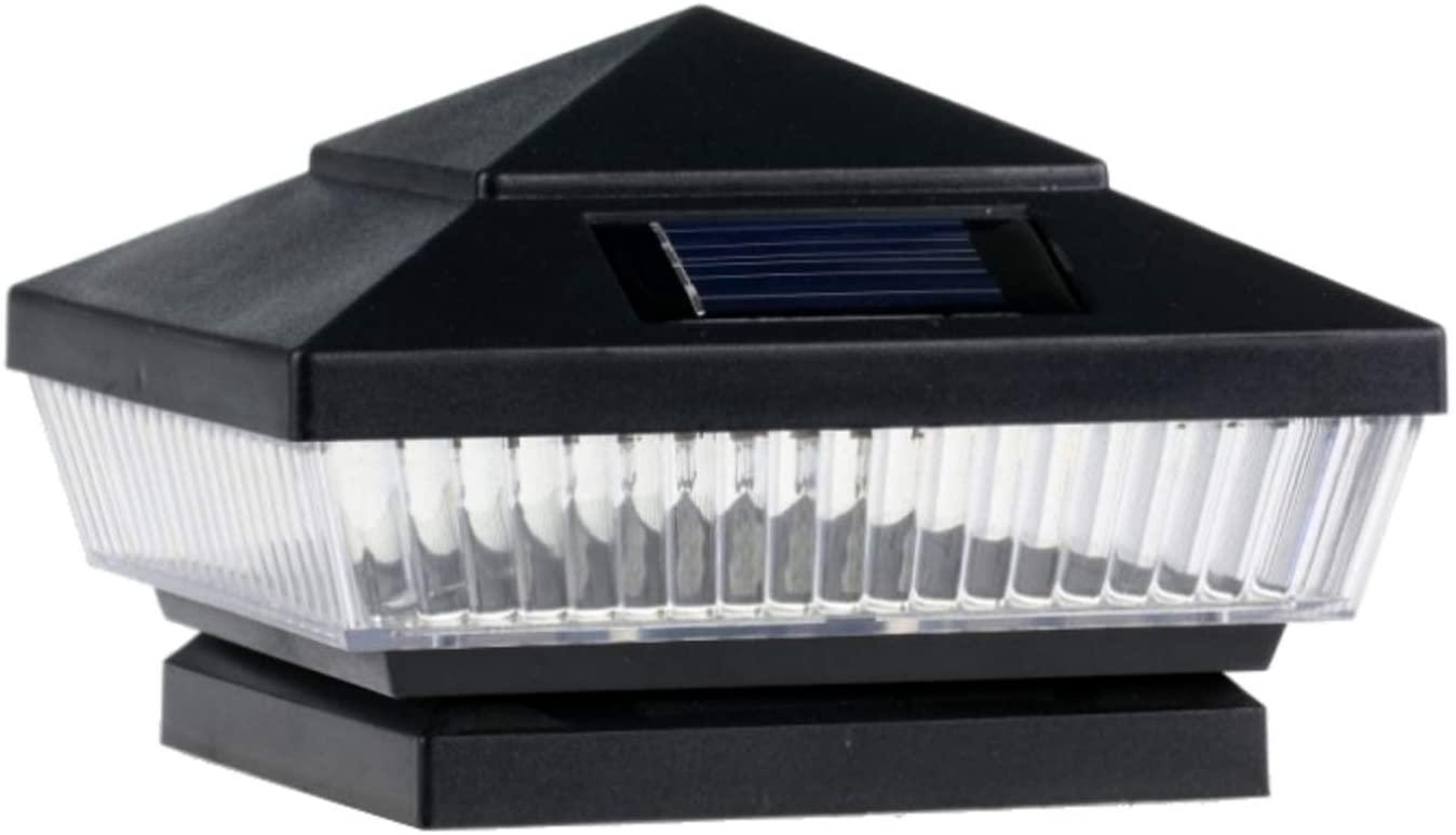 8-Pack Solar Black Post Deck Fence Cap Lights for 4