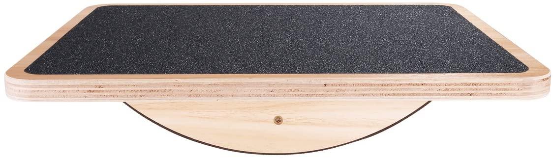StrongTek Professional Wooden Balance Board, Rocker Board, Wood Standing Desk Accessory, Balancing Board for Under Desk, Anti Slip Roller, Core Strength, Stability, Office Wobble Boards …