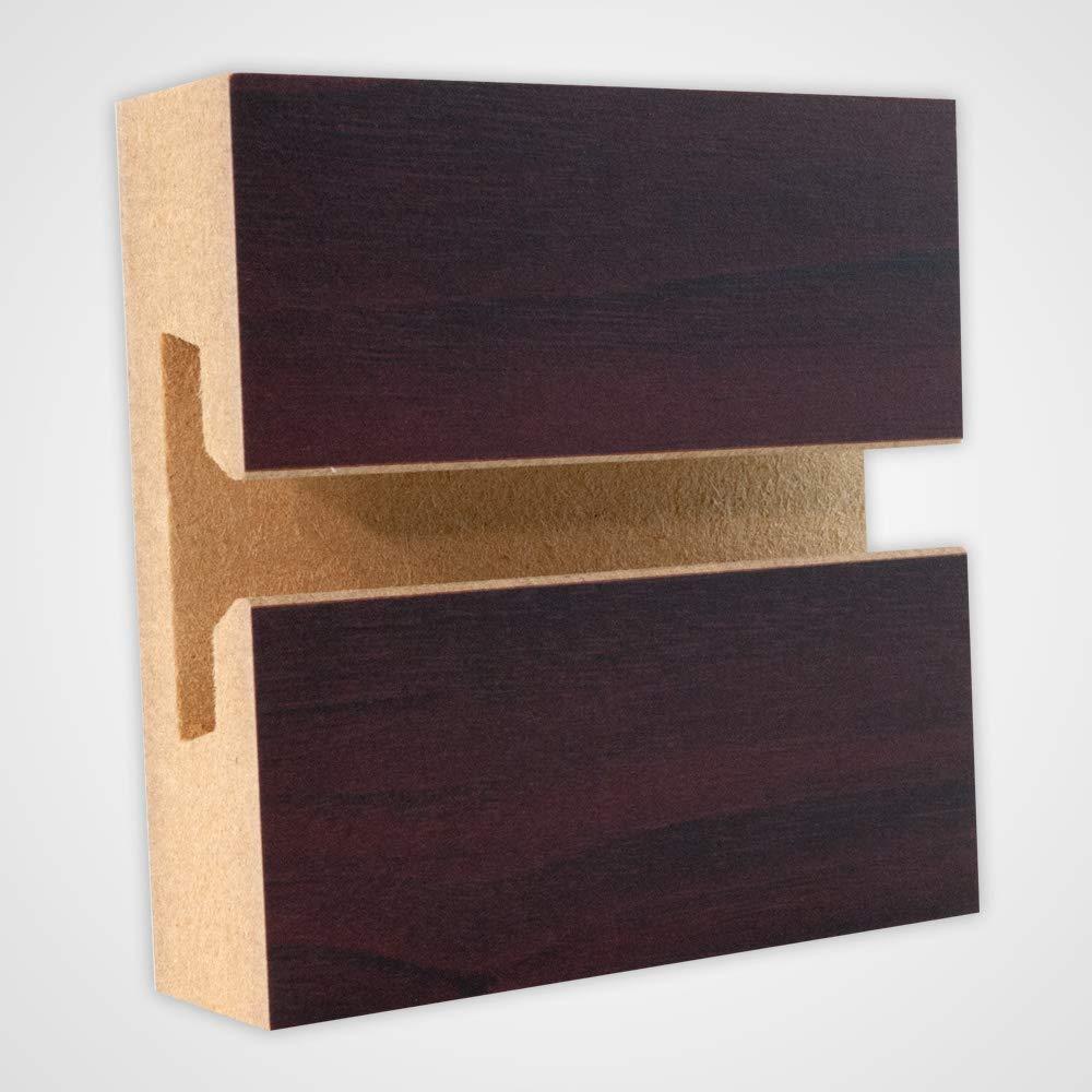 Mahogany Horizontal Slatwall Panels - 4 H x 8 W Feet - Box of 2
