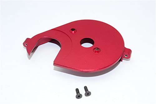 Axial Yeti, Yeti Score & RR10 Bomber Upgrade Parts Aluminum Spur Gear Cover Plate - 1Pc Set Red