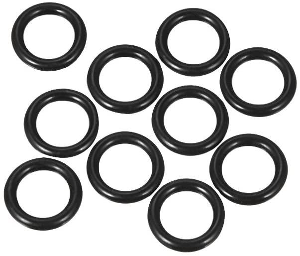 uxcell Nitrile Rubber O-Rings 13mm OD 8mm ID 2.5mm Width, Metric Buna-N Sealing Gasket, Pack of 10