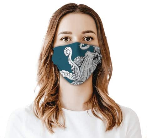 Octopus Face Shield Mouthcloth Face Scarf Mask Men Women Washable Anti-Dust Unisex