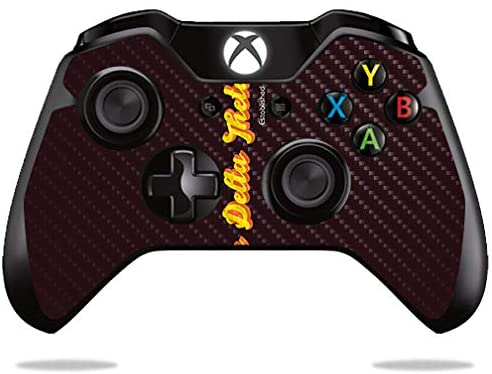 MightySkins Carbon Fiber Skin for Microsoft Xbox One or S Controller - Phi Delta Theta Funky 70'S | Textured Carbon Fiber Finish | Device Not Included - This is A Skin| Made in The USA