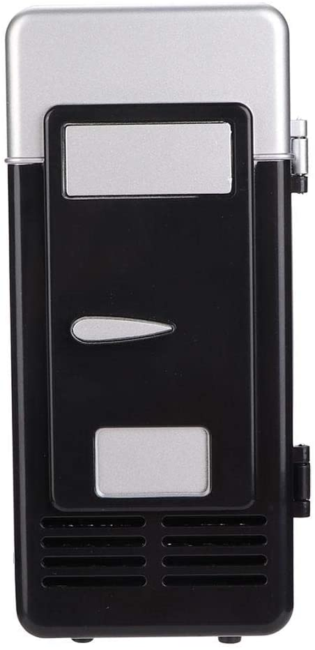 Mini Refrigerator, Mini USB Office Mini Heating And Cooling Dual-Use Portable Refrigerator Drink Cooler Mini Refrigerator for Office(black)