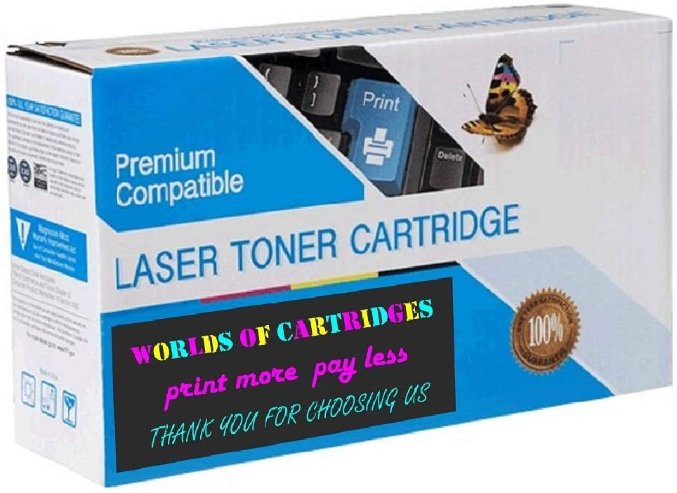 WORLDS OF CARTRIDGES Remanufactured Ink Cartridge Replacement for HP 92 (C9362W) (2-Pack: 2X Black)