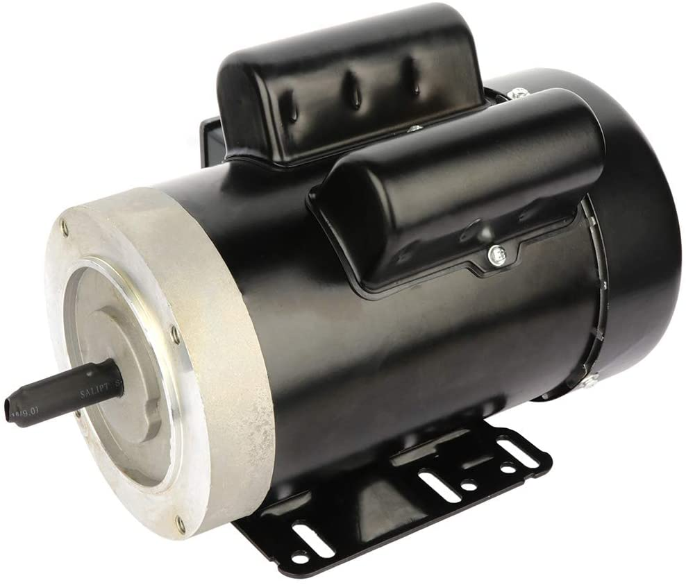 2HP 56C Frame 60 HZ Frequency with Flange Rated Speed 3450 RPM TEFC Air Compressor Electric Motor