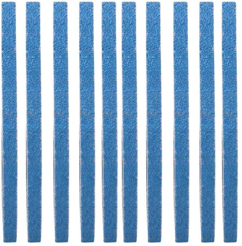 10PCS Abrasive Sanding Belt Sander Band Zirconium Corundum Sandpaper for Wood Furniture Grinding Polishing Woodworking 457 x 13mm(40#)