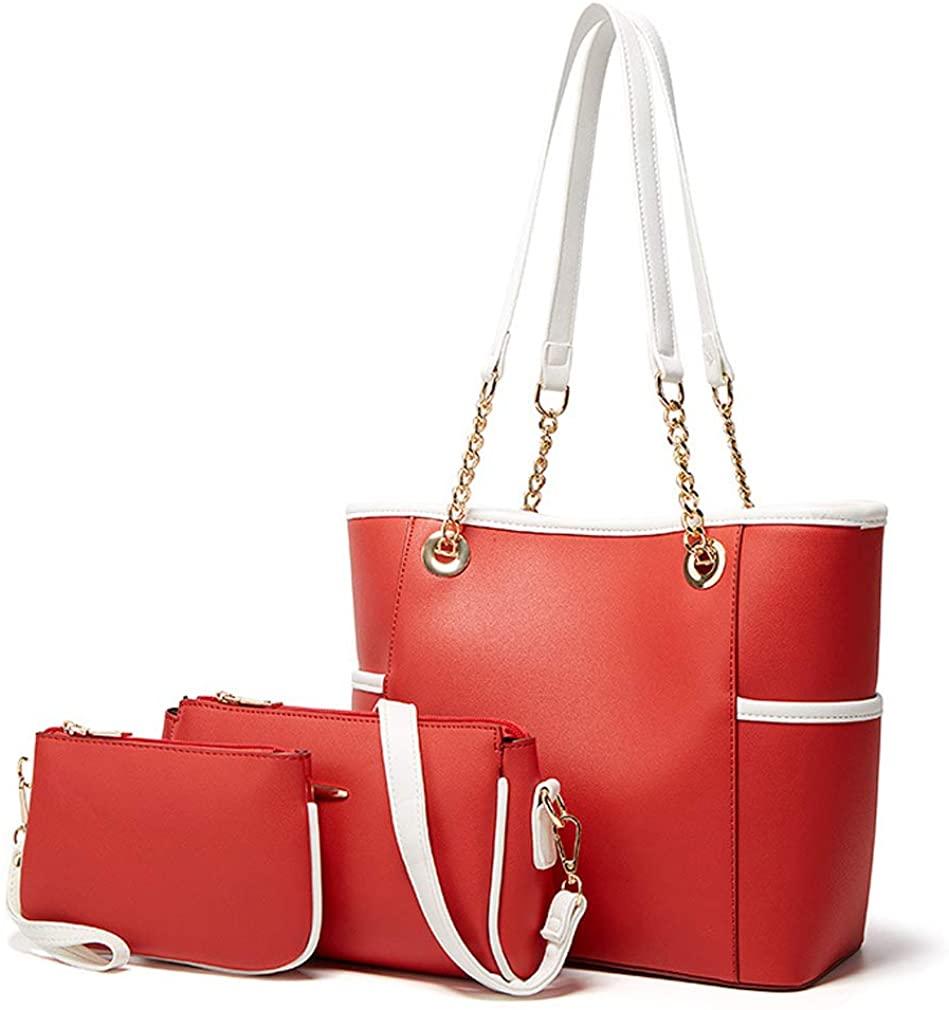 Handbag Sets For Women Fashion Ladies Shoulder Tote Bag Purse Crossbody Clutch 3pcs