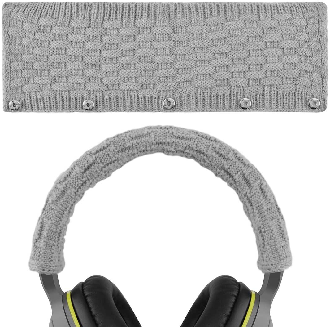 Geekria Headphone Headband Cover for Bose, AKG, Sennheiser, Sony, Beats, Audio-Technica Replacement Headband Cover/Comfort Cushion/Top Pad Protector Sleeve (Gray)