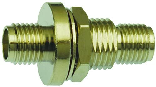BA21 - RF/Coaxial Adapter, SMA, Jack, SMA, Jack, Straight Adapter, 50 ohm, (Pack of 2)