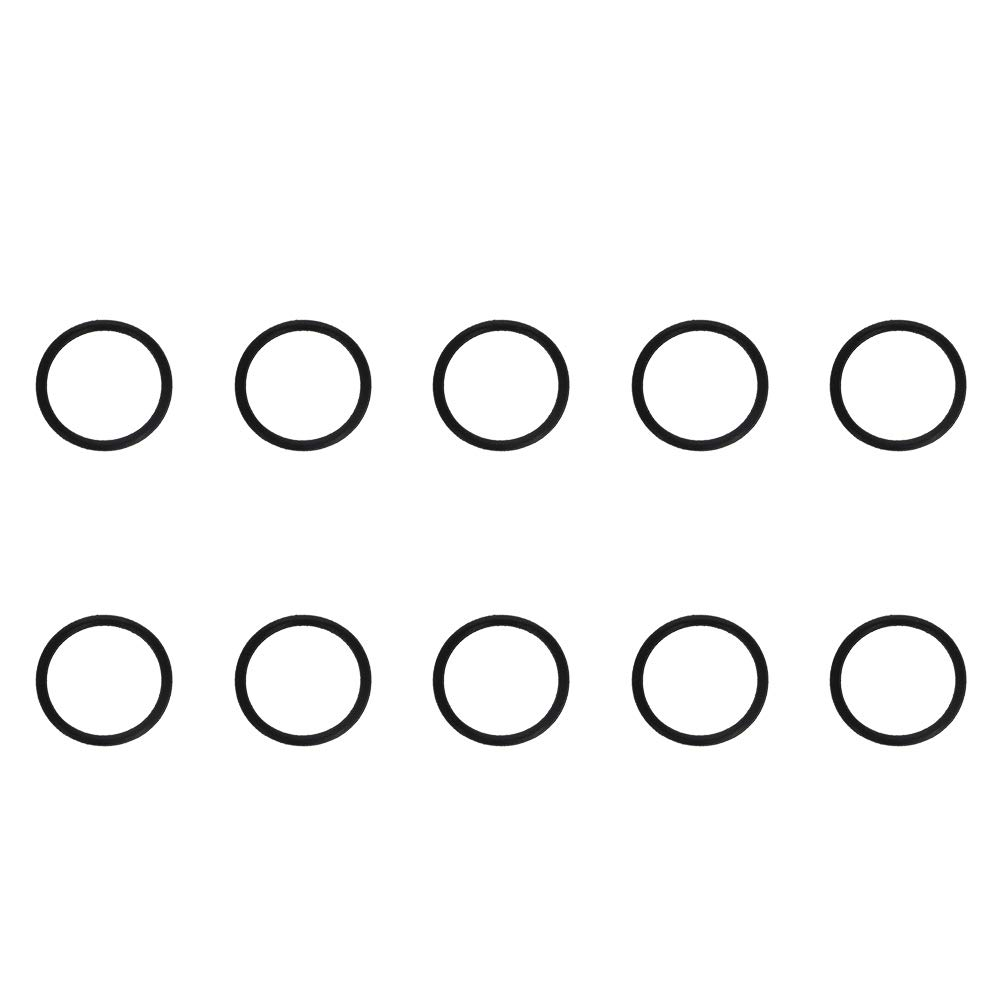 Othmro 24mmx20mmx2mm Black Nitrile Rubber(NBR) Sealing NBR O Rings Gaskets Washers Grommets 10pcs
