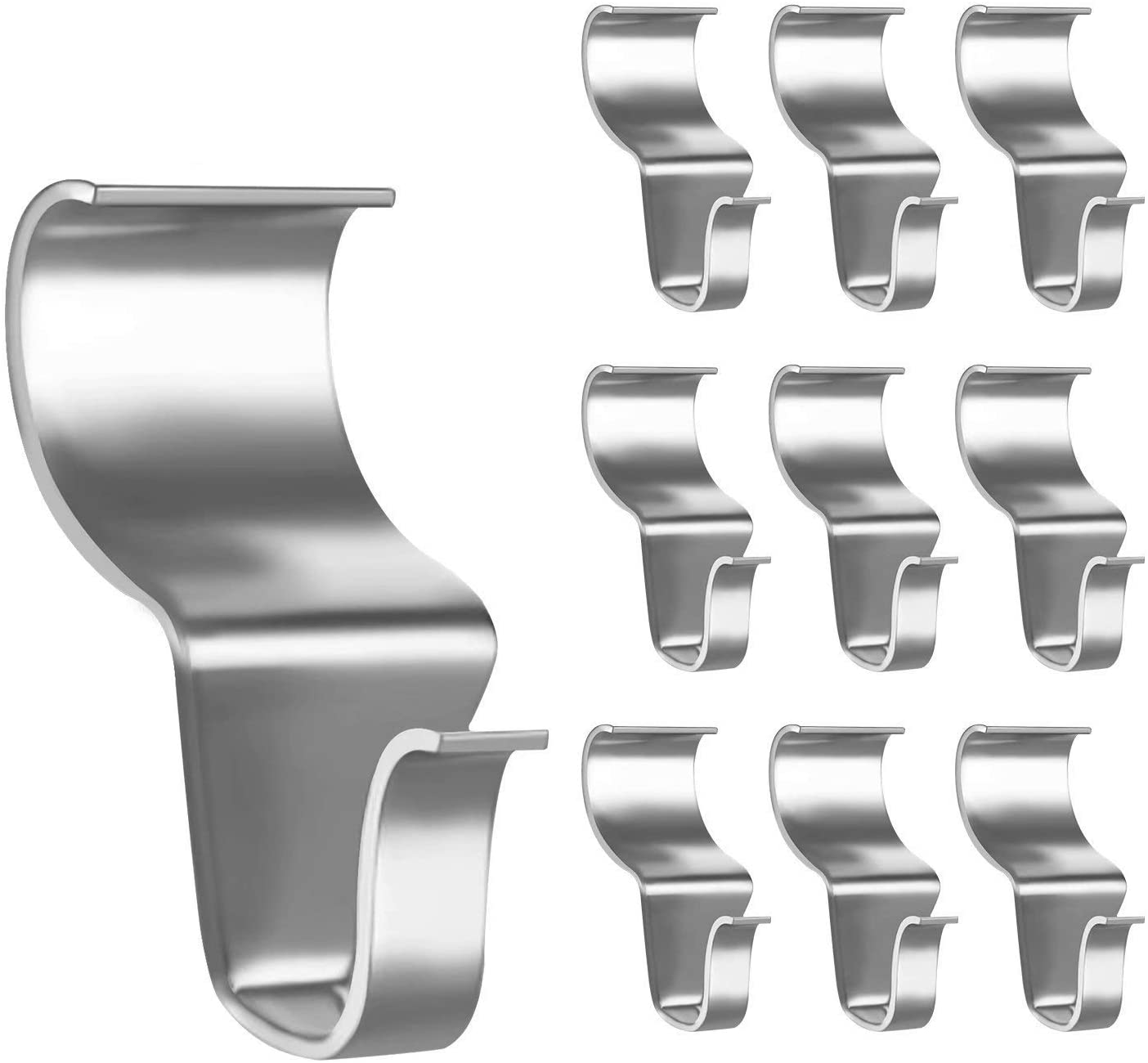 OCEST Vinyl Siding Hooks for Hanging Outdoor Clock, Heavy Duty Stainless Steel Low Profile No Hole Hanger Hooks for Outdoor Decoration Hanger Vinyl Siding Clips-10 Packs