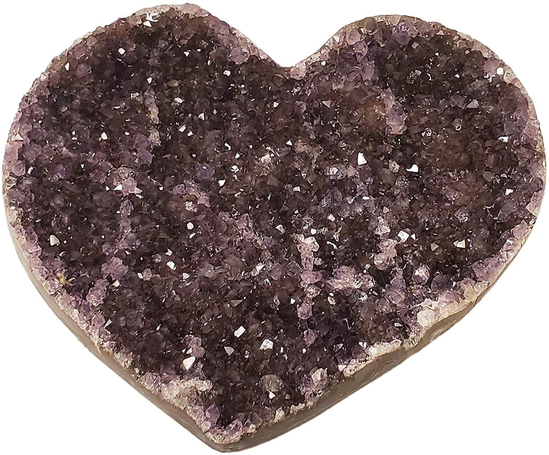 Fascinating Genuine Purple Heart Amethyst Crystal Collectible Gemstone 1 Lb