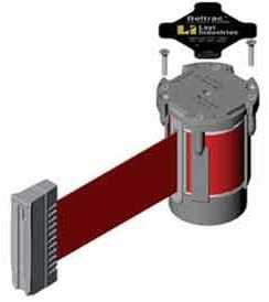 Lavi Industries Replacement Mechanism, For Use W/Beltrac Stanchions, 7'L Red Belt