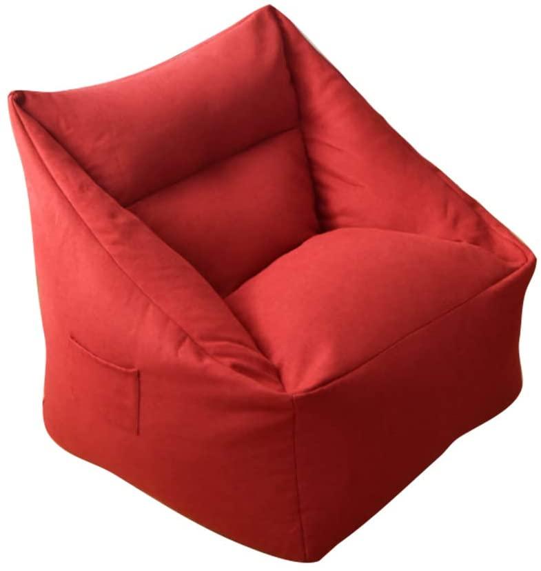 Autek Sofa Bean Bag Chair Sofa Cover Removable Lazy Lounger Bean Bag Storage Soft Sofa Coat Sofa Slipcover for Indoor Outdoor 06