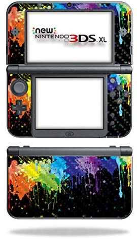 MightySkins Carbon Fiber Skin for Nintendo New 3DS XL (2015) - Splatter | Protective, Durable Textured Carbon Fiber Finish | Easy to Apply, Remove, and Change Styles | Made in The USA