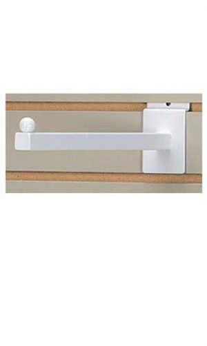 Square Slatwall Faceout in White ed 12 Inches - Count of 10