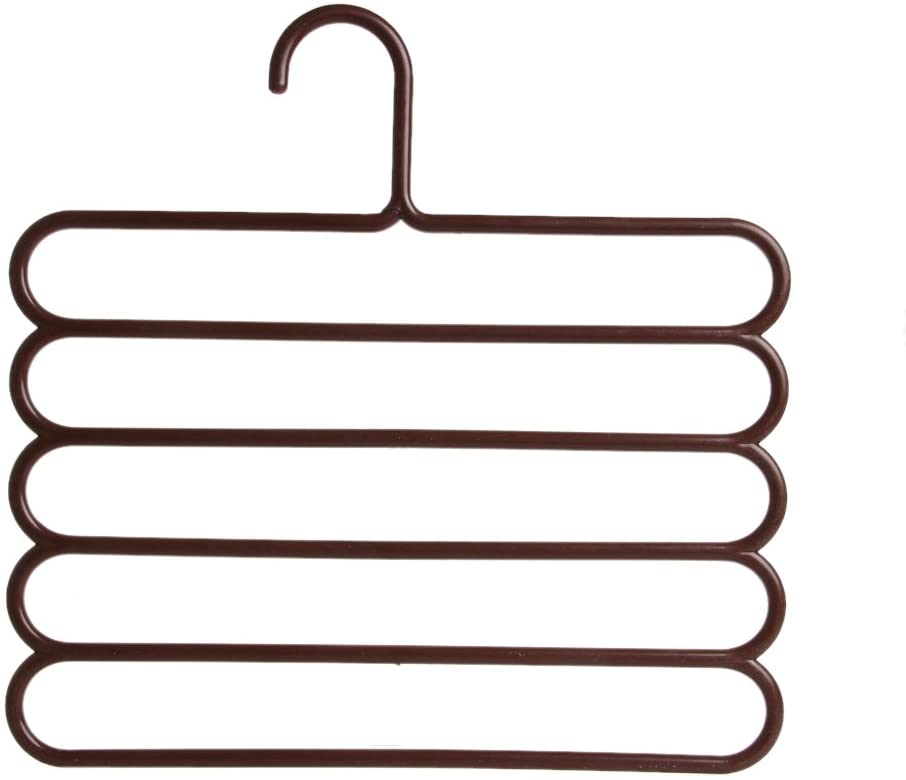 Y-YUNLONG Pants Hangers Holders Clothes Towels Clothing Apparel Five-Layer Space-Saving