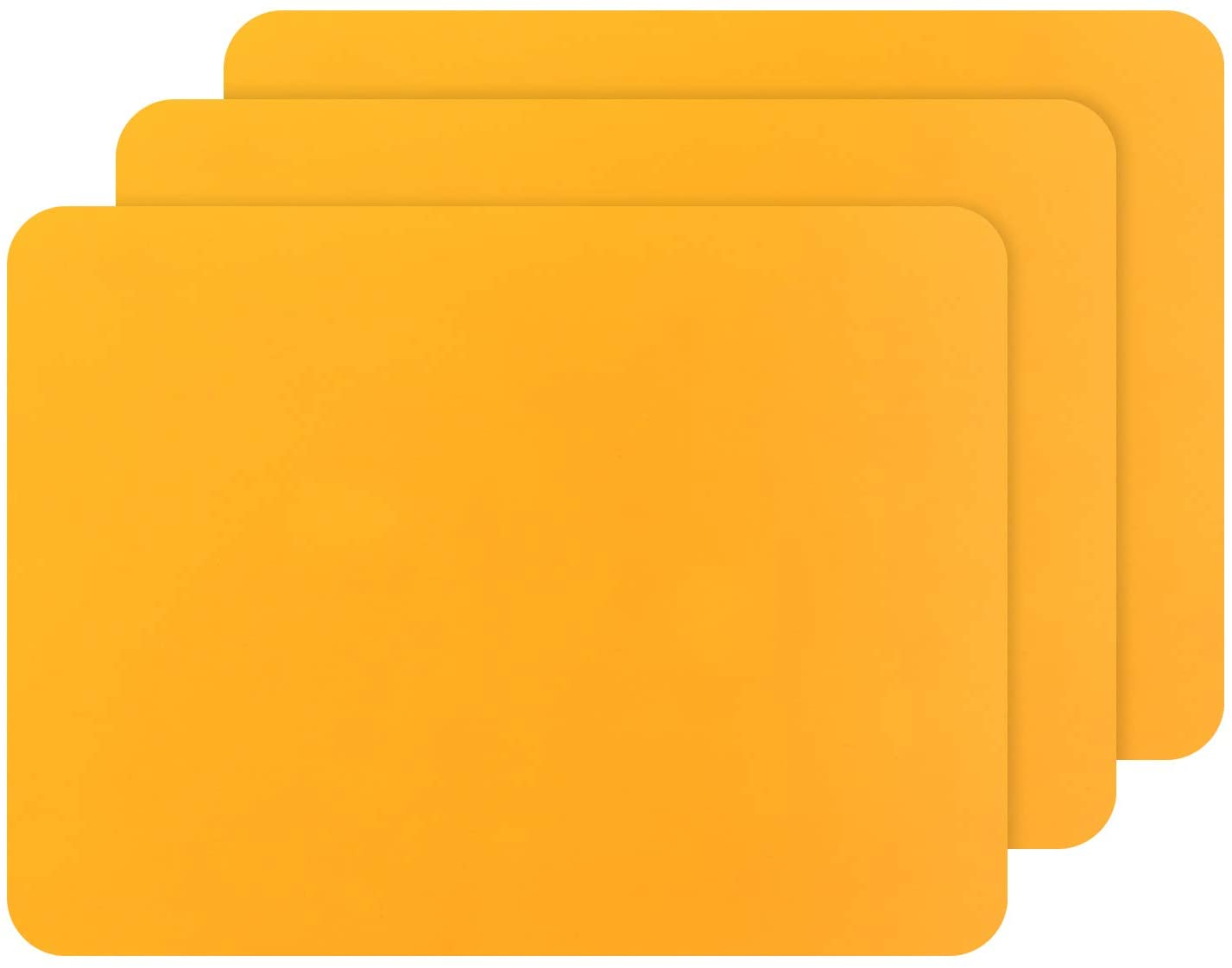 Gartful 3 PCS Silicone Sheet for Crafts, Resin Epoxy Casting Molds Mat, Multipurpose Countertop Protector Pad, Nonstick Nonskid Counter Table Cover Placemat, Heat Resistant, Orange (15.7 x 11.8 inches)