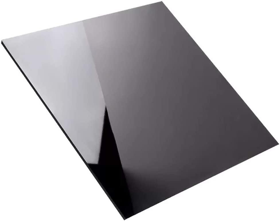 LEISHENT 5Pcs Black Opaque Acrylic Perspex Sheet/Panel 100X100x10mm