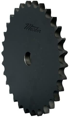 Martin Sprocket & Gear 100A25 - Stock Bore Sprocket - 100/1-1/4 in, Rough Stock Bore, 25 Teeth, 1-1/4 in, Steel