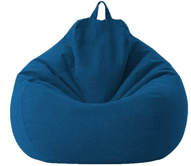 Aiccossr Soft Bean Bags Sofa Chairs for Adults, Teens and Kids Indoor Outdoor, Memory Foam Furniture for Garden Lounge Dorm Room (Blue)(Cover ONLY, NO Filler)