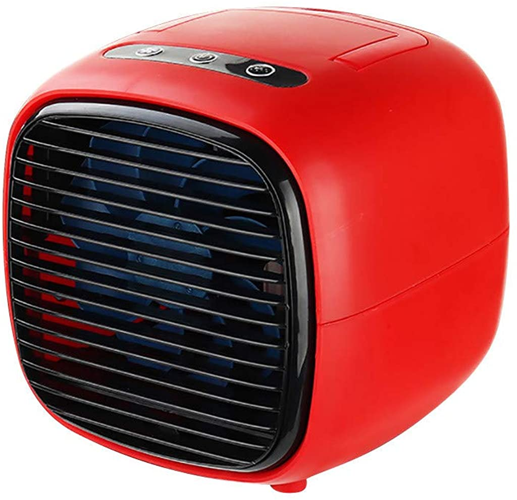 Goiwiejhg Office Home Refrigeration USB Portable Desktop Small Air Conditioner Cooling FanAir Coolers for Room Portable Red