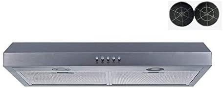 30 350 Cfm Convertible Stainless Steel Under Cabinet Range Hood Lights Removable Filter