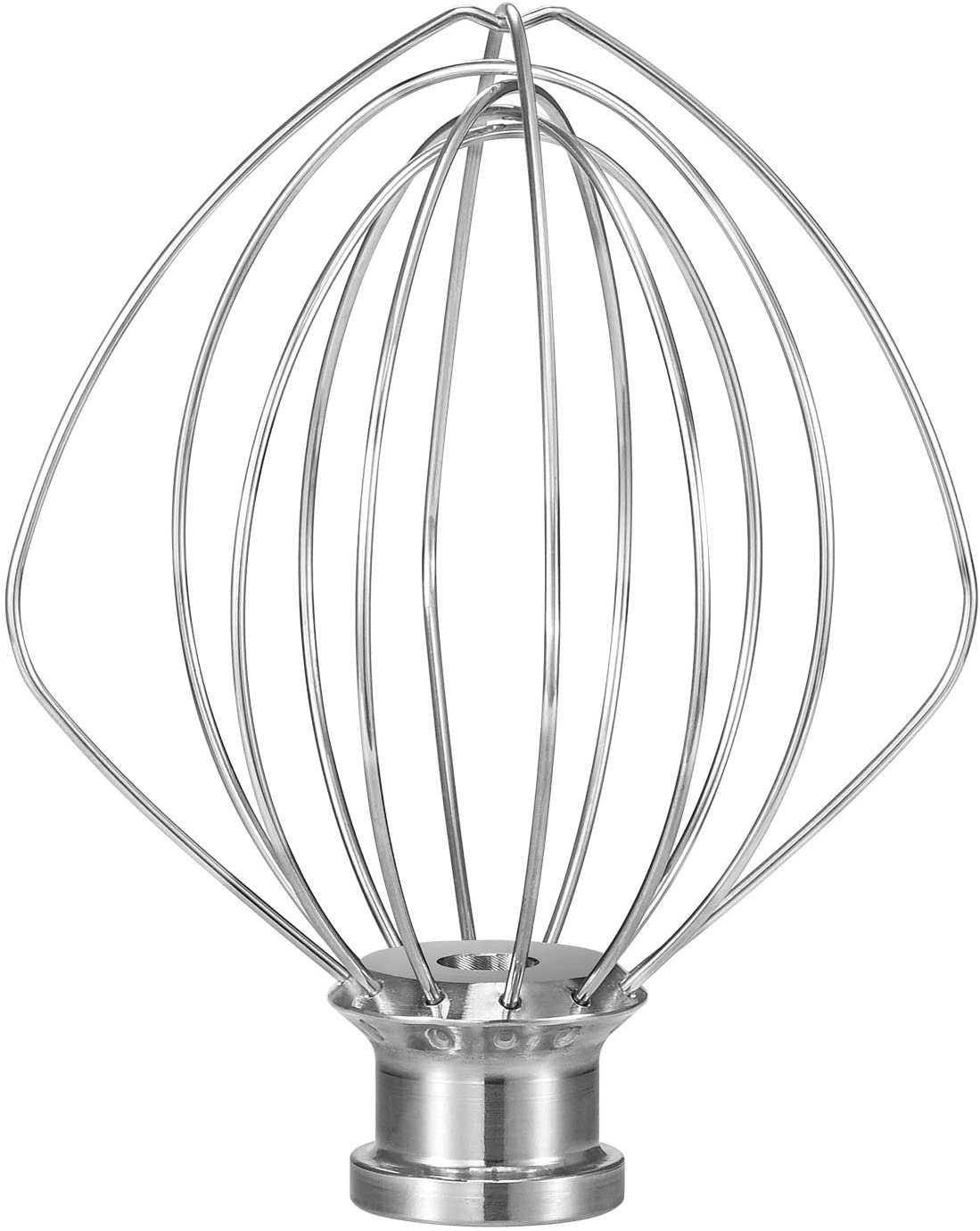 K45WW Dishwasher Safe Wire Whip Attachment 6 Wire Whisk Upgrade Real Stainless Steel Fits KitchenAid Tilt-Head Stand Mixer for Egg Heavy Cream Beater, Cakes Mayonnaise