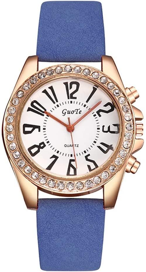 HunYUN Fashion Simple Minimalist Luxury Quartz Watch Simple Solid Color Casual Leather Belt Woman's Watch B