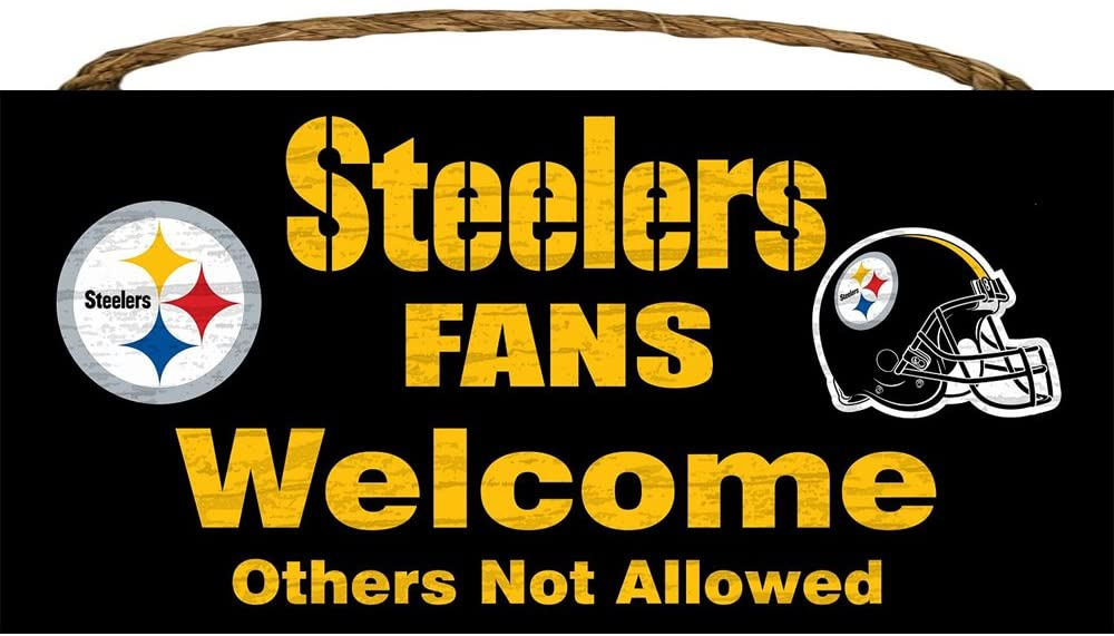 Pittsburgh Steelers Wood Sign - Fans Welcome 12