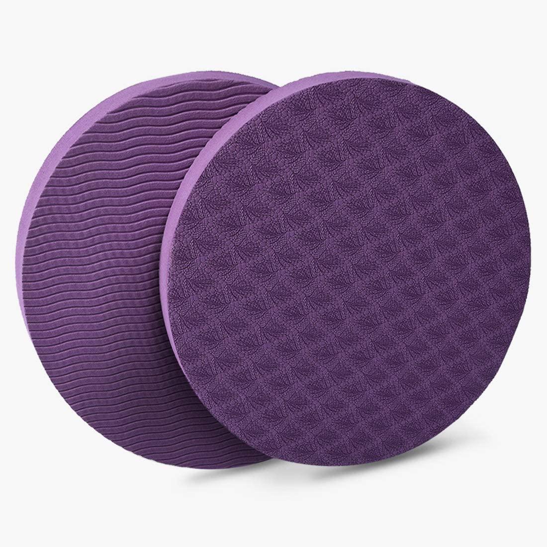 GoYonder Yoga Knee Pads, Portable Comfortable Knee Cushion High Density Non Slip Knee Mats for Yoga Pilates Floor Exercises 2 Pack