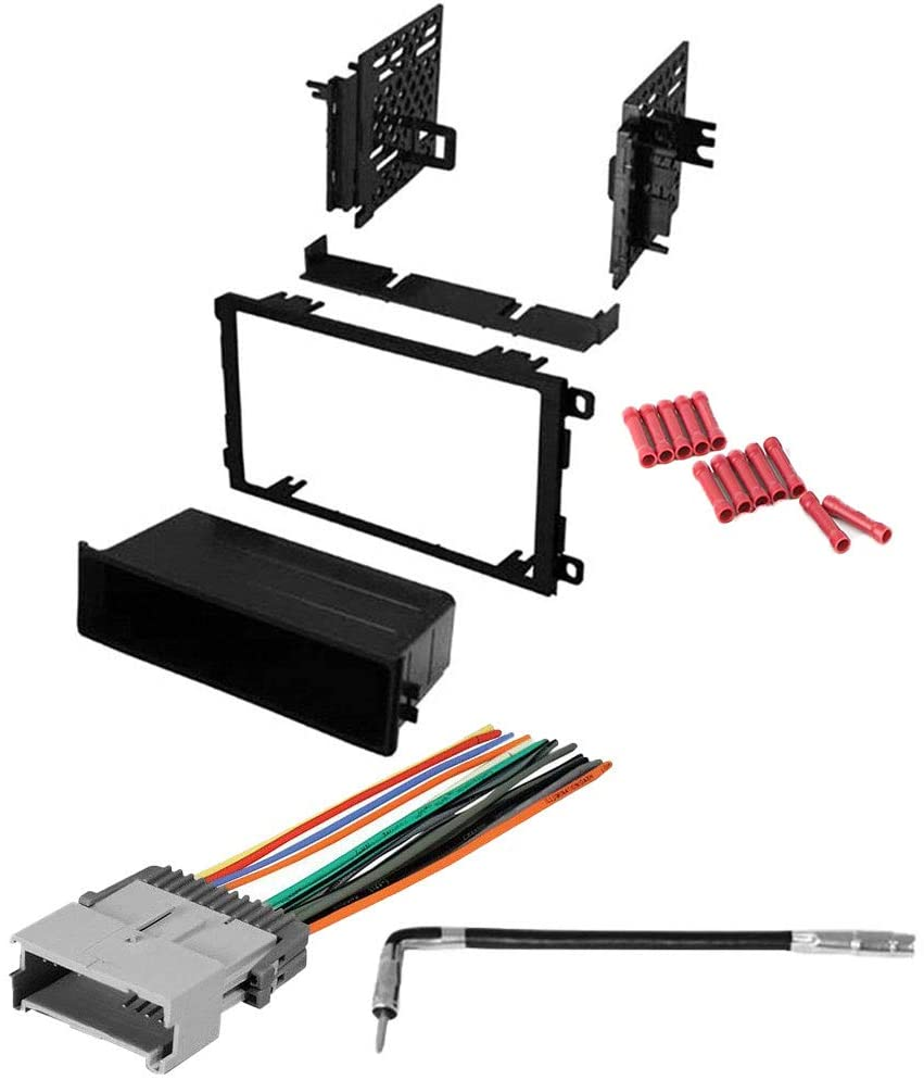 CACHÉ KIT925 Bundle with Car Stereo Installation Kit for 2003 – 2006 GMC Sierra – in Dash Mounting Kit, Harness, Antenna for Single or Double Din Radio Receivers (4 Item)