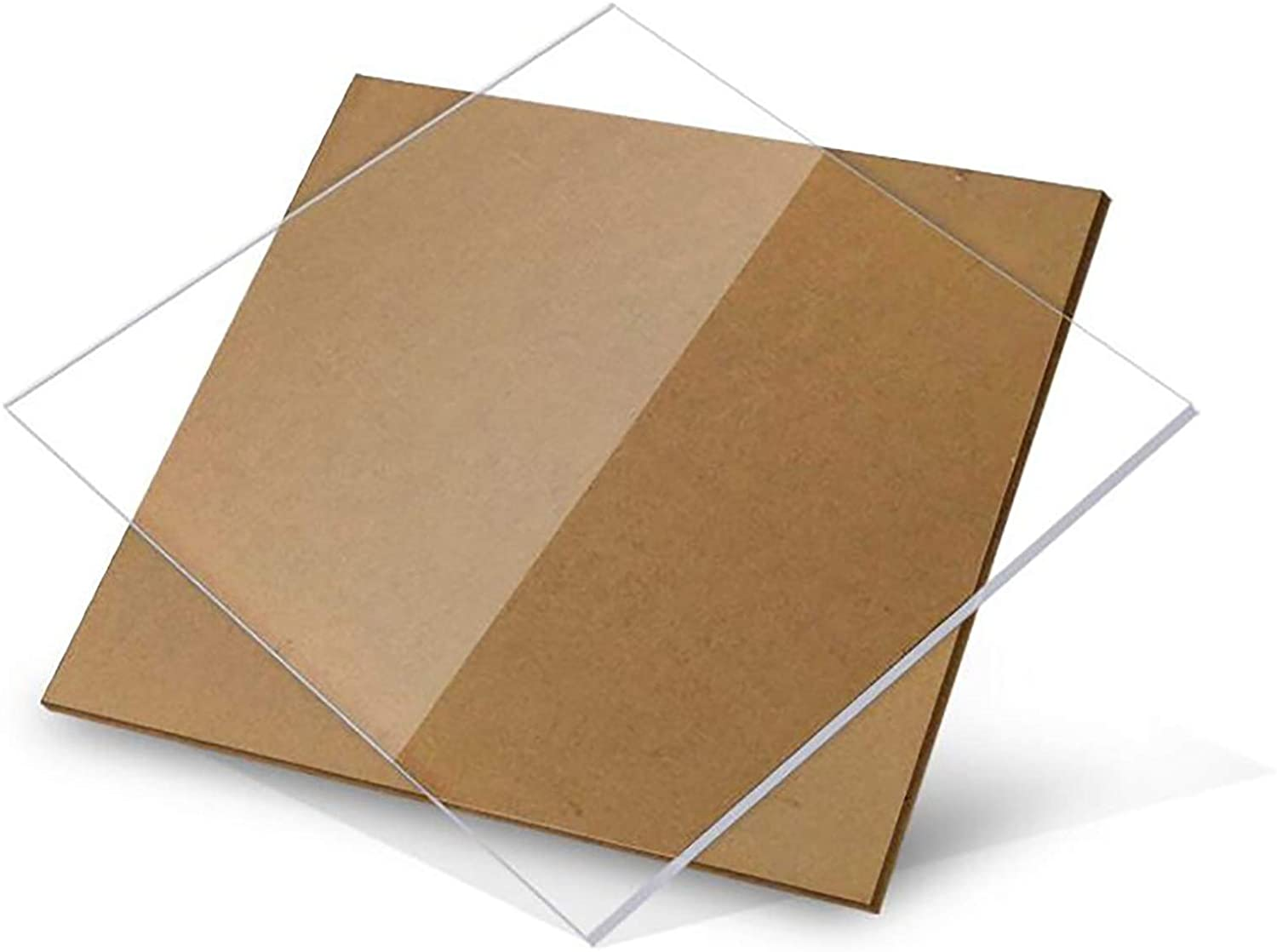 SQINAA Acrylic Sheet Plexiglass 8 x 8 in Square 0.2 Inch, Used for Signboards DIY Display Projects Crafts 1 Pcs,200x200x8mm