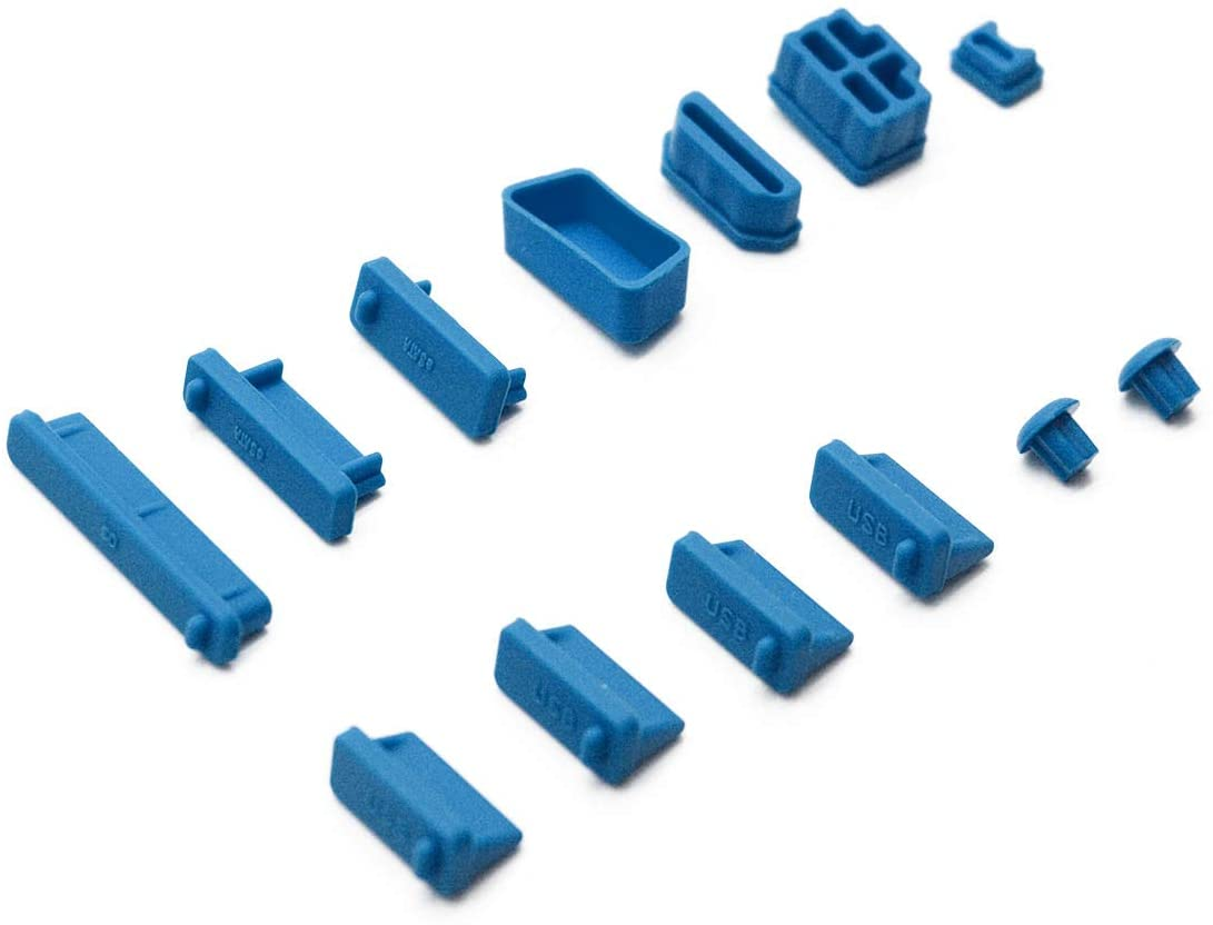 Antrader General Silicone Anti Dust Stopper/Plug-13 Piece Set, Blue
