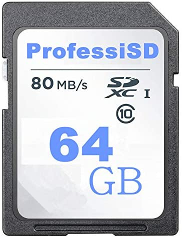 ProfessiSD 64GB SD Card Class 10 SDXC Memory Card UHS-I Flash Memory Card Security Digital Memory Card