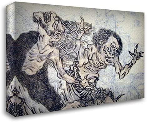 ArtDirect Eyed Oni 24x18 Gallery Wrapped Stretched Canvas Art by Katsushika Hokusai