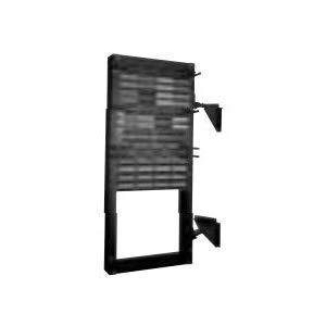 Belden Belden AX100786 Wall Mount Bracket, for Use with High Density Patch Panel, 4U Rack Unit, Steel, Black
