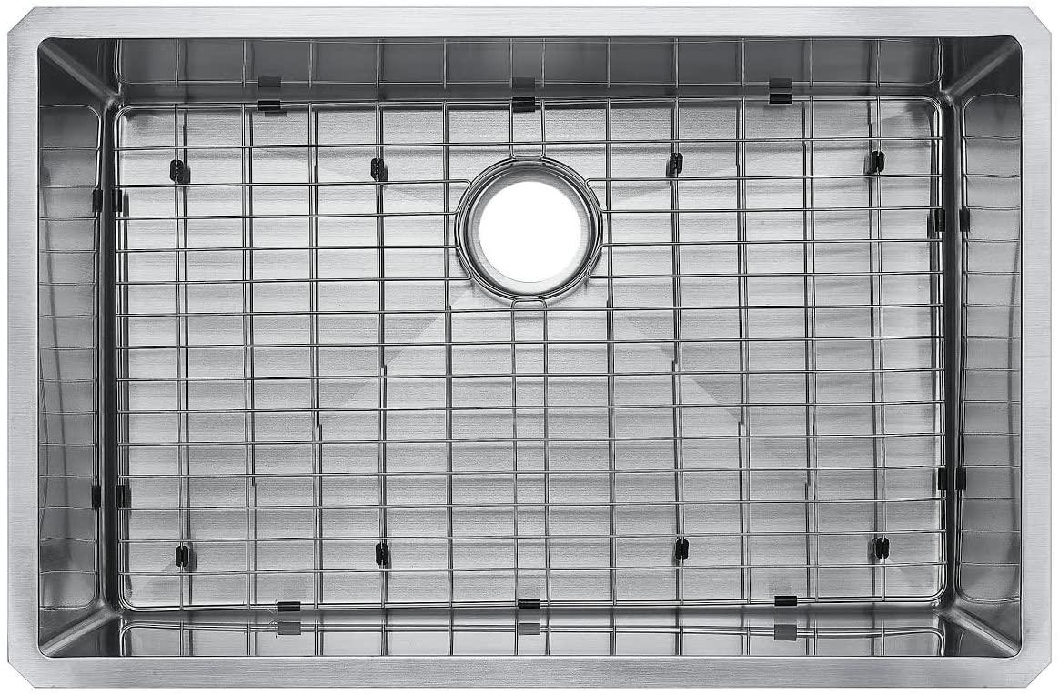 Starstar 29 Inches 16 Gauge Undermount Single Bowl Stainless Steel Kitchen Sink With Grid