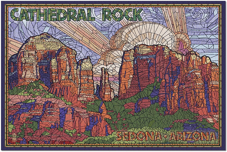 Sedona, Arizona - Cathedral Rock - Mosaic (Premium 1000 Piece Jigsaw Puzzle for Adults, 19x27)
