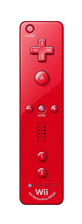 Wii Remote Plus - Red (Renewed)