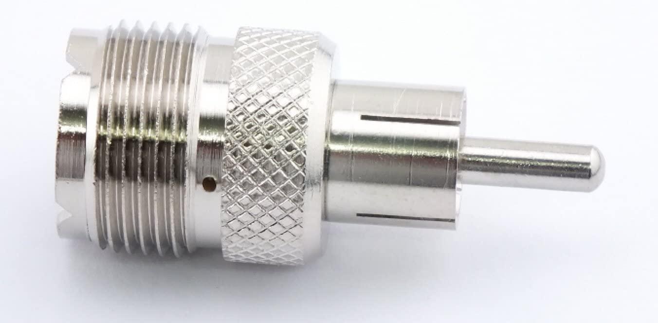 W5SWL Brand Premium Series Coax Adapter Connector UHF Female to RCA Male Plug fits Heathkit