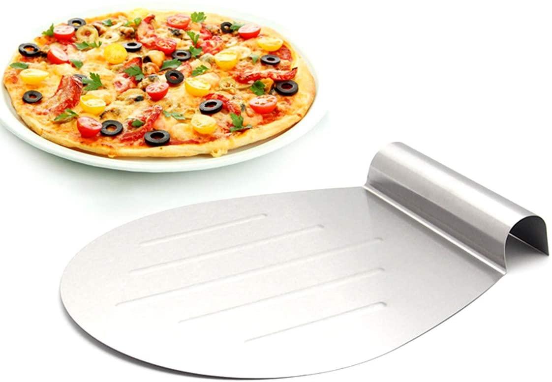 ROSEBEAR Stainless Steel Scraper/Chopper Cake Pizza Peel Baking Lifter Moving Shovel Plate Transfer Tray Kitchen Tool