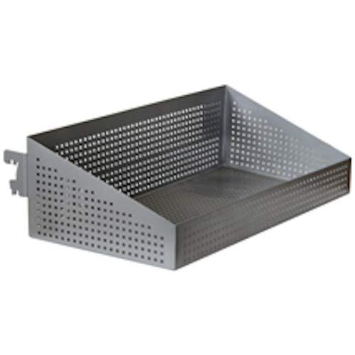 Di Simo Metal Basket Shelf in Silver Finish 24 W x 12 D x 7 H Inches