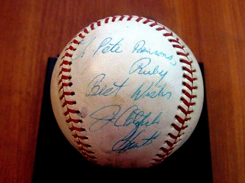 Jim Catfish Hunter Yankees A's Hof Signed Auto Game Used Era Oal Baseball Jsa - MLB Game Used Baseballs