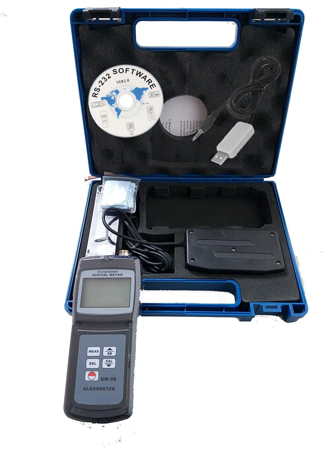 HFBTE GM06 60 Degree Gloss Meter with USB Data Cable and Software Splite Type Glossmeter