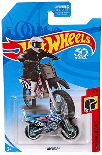 Hot Wheels 2018 50th Anniversary HW Daredevils HW450F (Dirt Bike), Blue