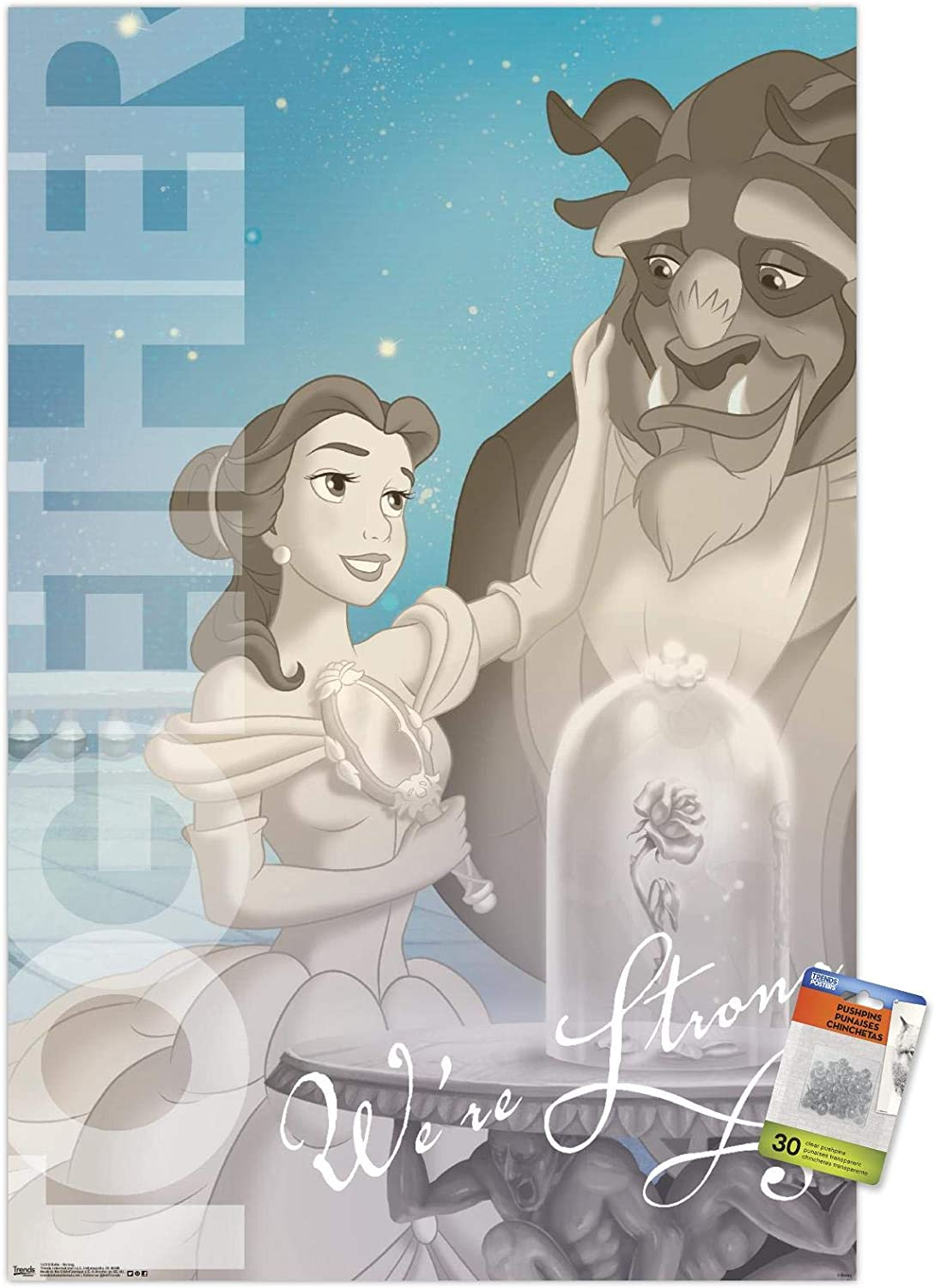 Disney Beauty And The Beast - Belle - Strong Wall Poster with Push Pins